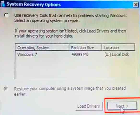 System Recovery options 1