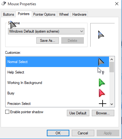 Change Mouse Cursors Windows 10 by PCsolutionHD.com