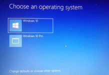 Choose an operating system on windows 10