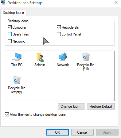 Desktop Icon Settings Windows 10 PCsolutionHD.com