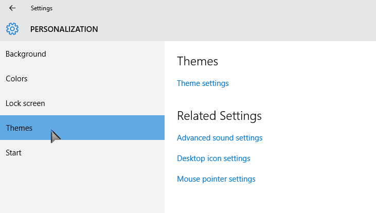 Personalize Settings themes PCsolutionHD.com