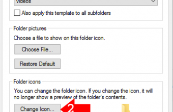 Change folder icon in windows 10/8.1/8/7