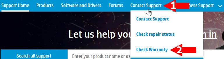 HP Warranty Check Online