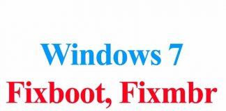 Windows 7 Fixboot, Fixmbr