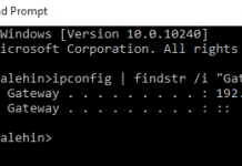 Command To Find Getway IP
