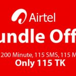 Airtel 115 TK Bundle Offer – 200 Minutes, 115 SMS & 115 MB