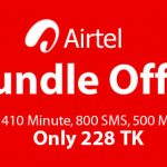 Airtel 228 TK Bundle Offer – 410 Minutes, 800 SMS & 500 MB