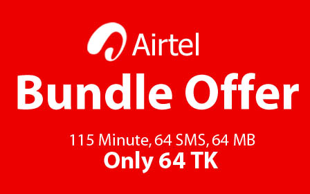 Airtel 64 TK Bundle Offer