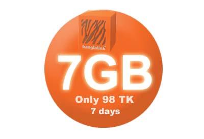 Banglalink 7GB 98 TK Internet Offer News