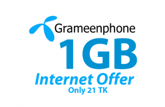 GP 1GB Internet 21 TK with 15 Days Validity Offer