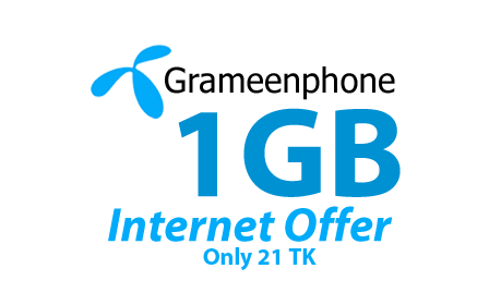 GP 1GB Internet 21 TK