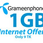 GrameenPhone 1GB 9Tk Internet Offer | GP 9TK 1GB Internet Offer