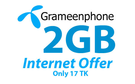 Gp 2GB 17Tk Internet Offer