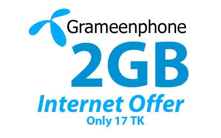 Gp 2GB 17Tk Internet Offer