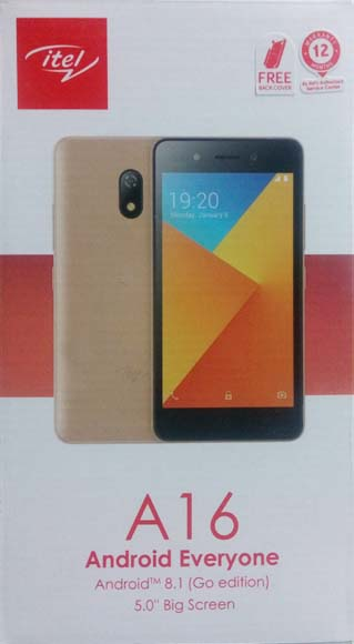 iTel A16 smartphone photo