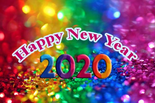 Colorful Happy New Year Wishes in 2021
