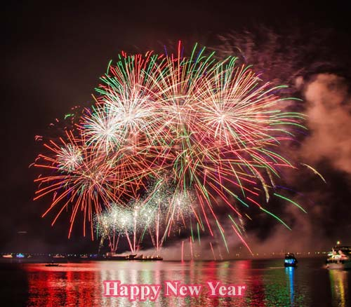 Happy New Year Colorful Photo
