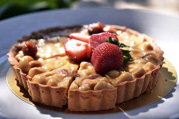 strawberry in pie