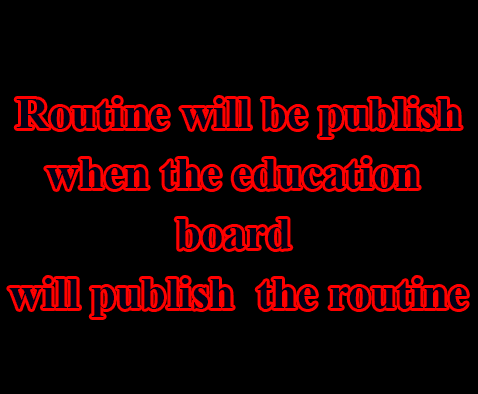 HSC Routine 2020 Published