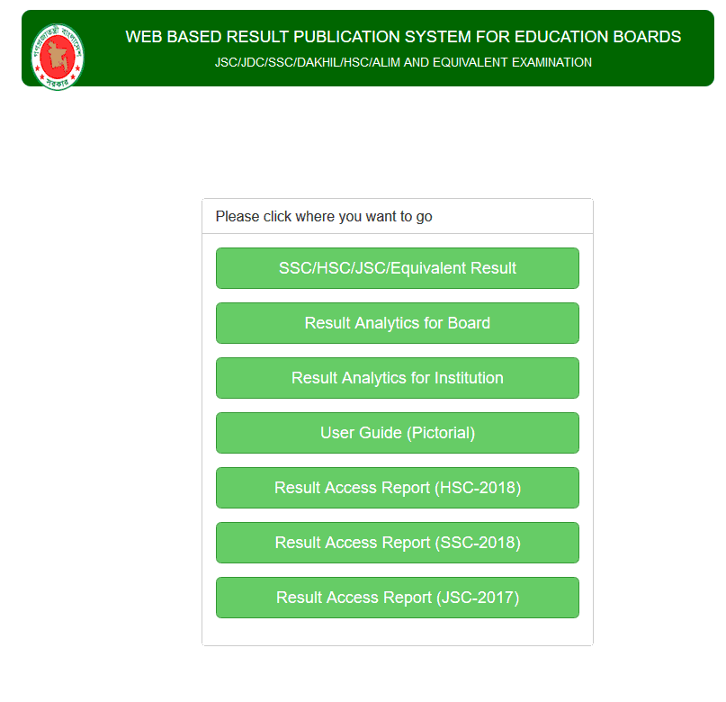 Web Based Result Publication System